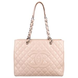 Chanel Caviar Grand Shopping Tote in Beige Blush